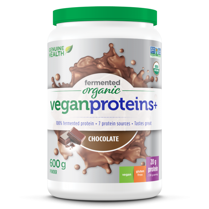 fermented organic vegan proteins+