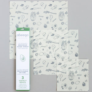 Beeswax Wraps Variety Pack