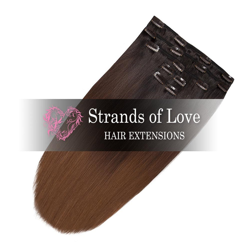 Strands of Love 20 Inch Classic Clip-In Hair Extensions 1B-2-6 Bel Air Ombre