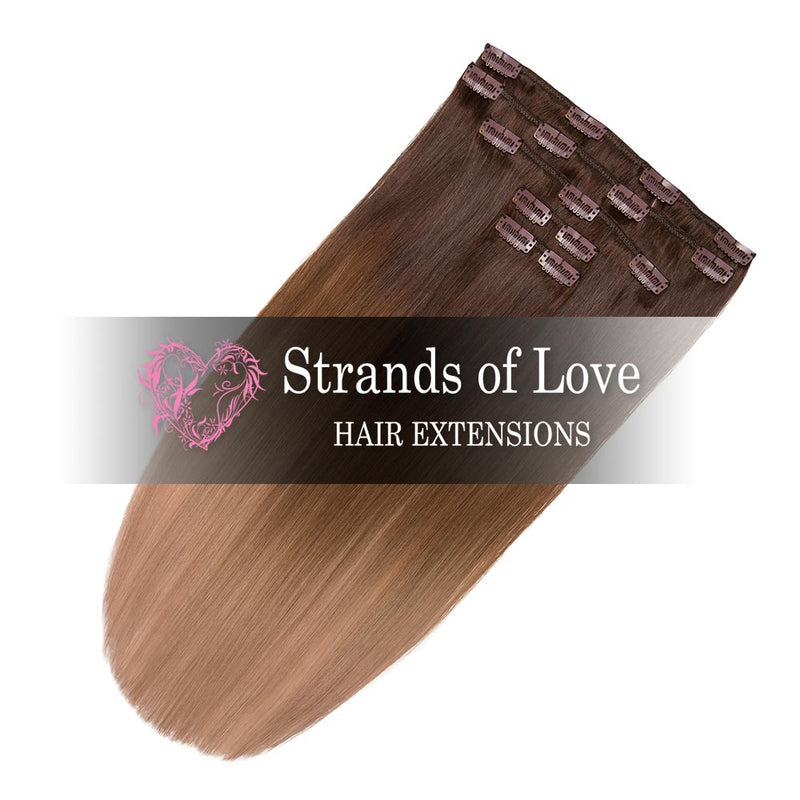 Strands of Love 20 Inch Classic Clip-In Hair Extensions 2-8-20 Beverley Hills Ombre