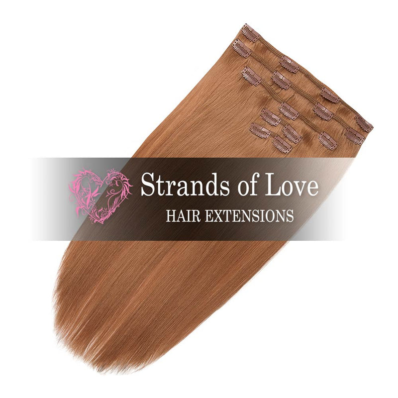 Strands of Love 20 Inch Classic Clip-In Hair Extensions 27 Desert Blonde