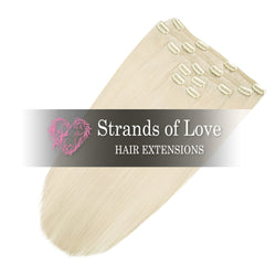 Strands of Love 20 Inch Classic Clip-In Hair Extensions 60 Summer Blonde