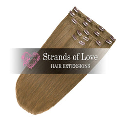 Strands of Love Clip-In Hair Extensions Camo Brown No #7