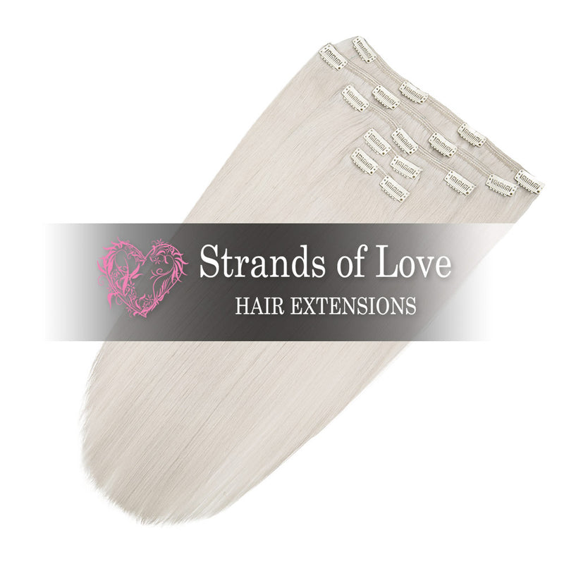 Strands of Love 20 Inch Classic Clip-In Hair Extensions Ice Blonde