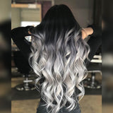 20 Inch Classic Clip-In Hair Extensions - New York Ombre (#1-Ice)