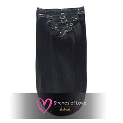 Student Clip-In Hair Extensions - Jet Black (#1)