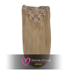 20 Inch Student Clip-In Hair Extensions - Natural Dark Blonde (#10)
