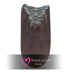 Student Clip-In Hair Extensions - Chocolate Brown (#2)