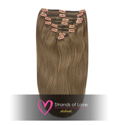 20 Inch Student Clip-In Hair Extensions - Camo Brown (#7)