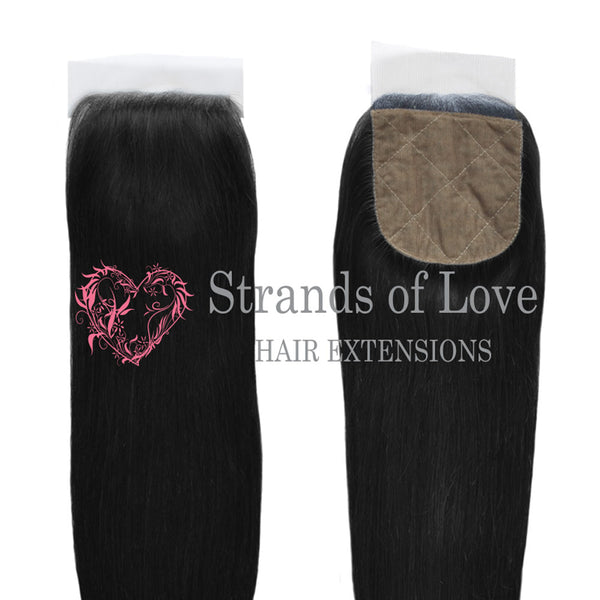 20 Inch Closure (Silk) VIP Gold Extensions - Jet Black #1 (Straight)