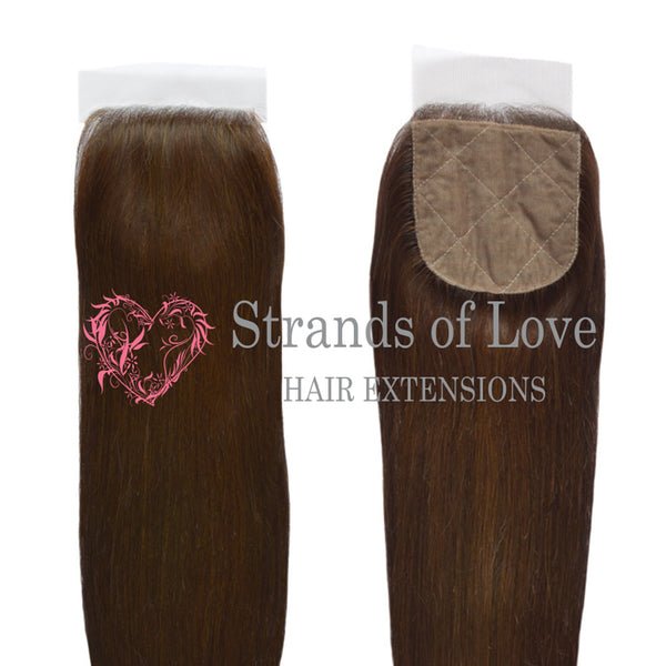 20 Inch Closure (Silk) VIP Gold Extensions - Rich Brown #2 (Straight)
