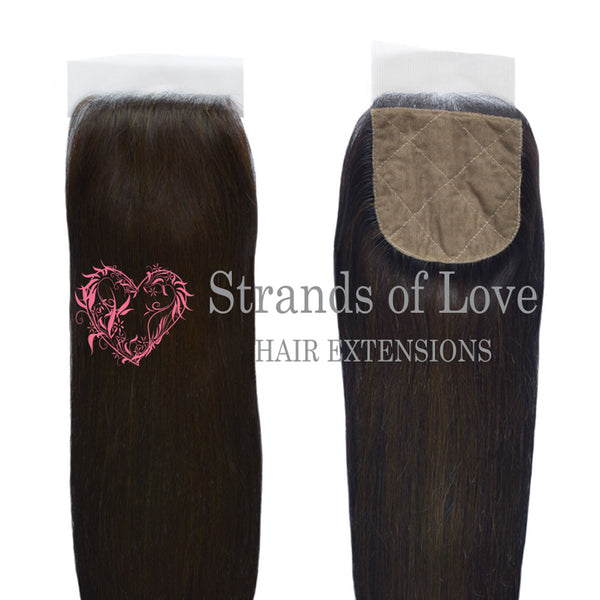 20 Inch Closure (Silk) VIP Gold Extensions - Soft Black #1B (Straight)