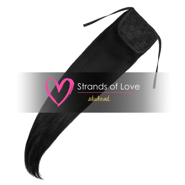 Strands of Love Student Ponytail Clip-In Jet Black #1