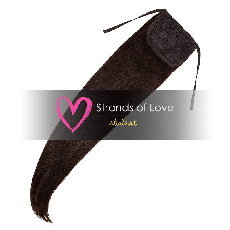 Strands of Love Student Ponytail Clip-In Soft Black #1B