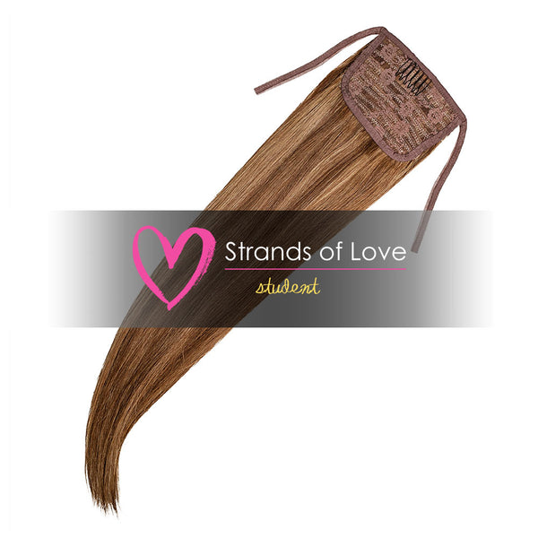 Strands of Love Student Ponytail Clip-In Caramel Highlight #2/8/20