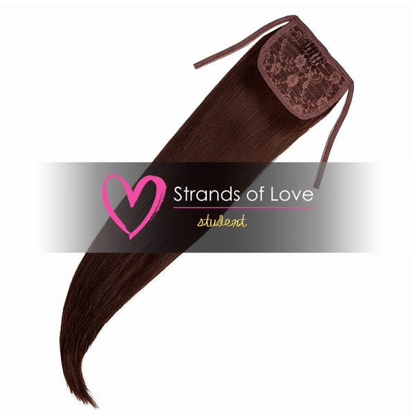 Strands of Love Student Ponytail Clip-In Chocolate Brown #2