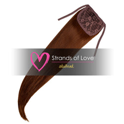 Strands of Love Student Ponytail Clip-In Chestnut Brown #4
