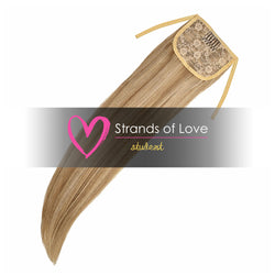 Strands of Love Student Ponytail Clip-In Hair Extensions 24/7 Cinnabon Highlight