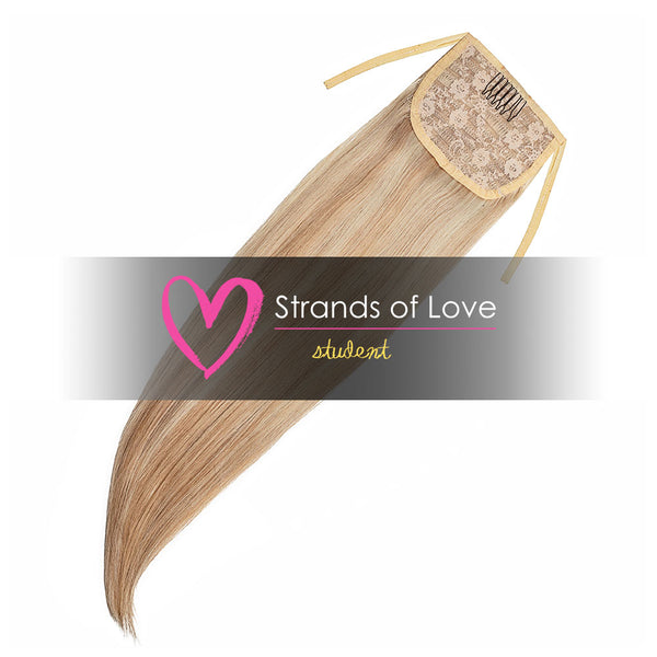Strands of Love Student Ponytail Clip-In Light Vanilla Highlight #60/20