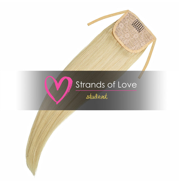 Strands of Love Student Ponytail Clip-In Golden Summer Blonde #60
