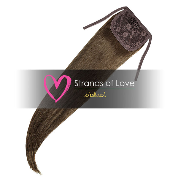 Strands of Love Student Ponytail Clip-In Camo Brown #7