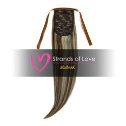 20 Inch Student Wrap-Around Clip-In Ponytail Hair Extensions - Natural Ash Highlight (#9/60)