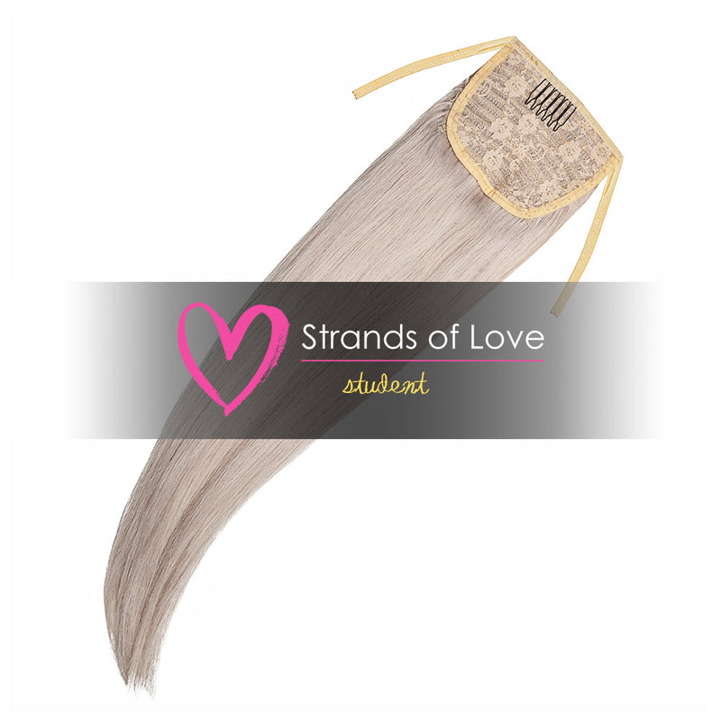 Strands of Love Student Ponytail Clip-In Ice Blonde