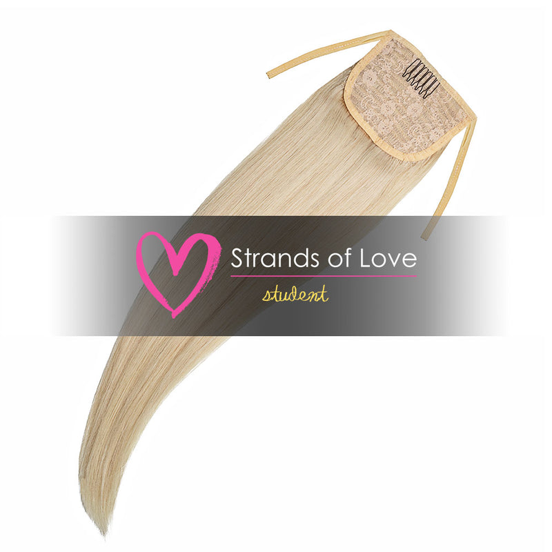 Strands of Love Student Ponytail Clip-In Platinum Blonde #Silver
