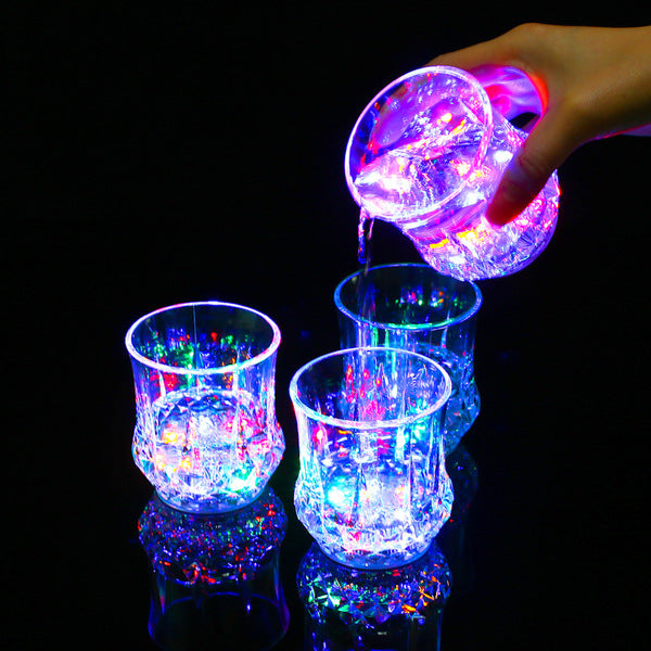 Fashion Inductive Colorful LED Glass Cup