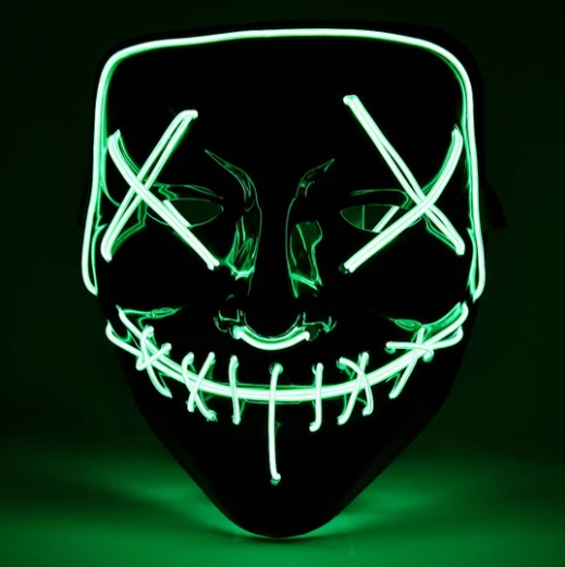 【Big Sale Today】 Halloween-Party & Rave LED Mask