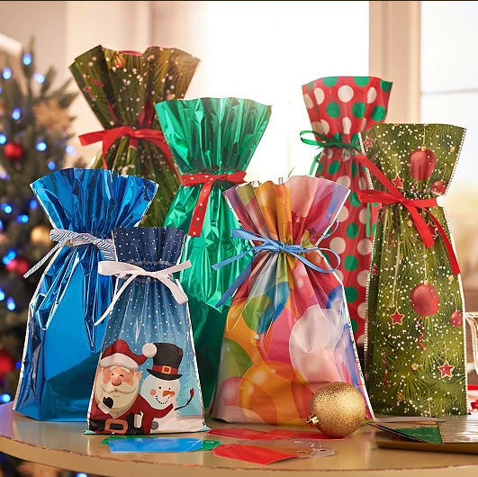(50PCS)Drawstring Christmas Gift Bags--BUY TWO FREE SHIPPING