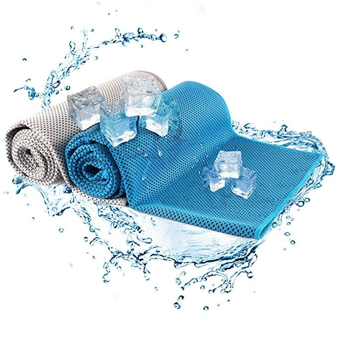 (2 PACK)INSTANT COOLING RELIEF SPORT TOWEL