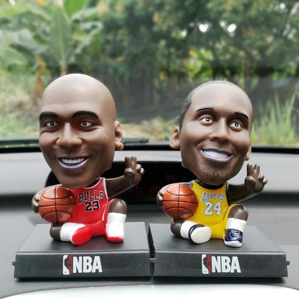 Super cool football star car decoration