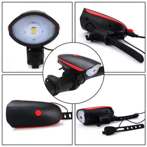 Hot Selling!!!Electric Loudly Bell USB Rechargeable LED Bicycle Bell light