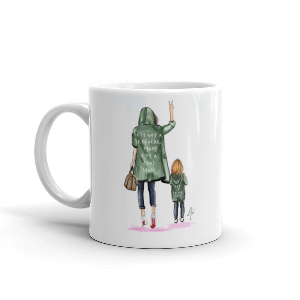 Cool Mom (Brunette/Red) Mug