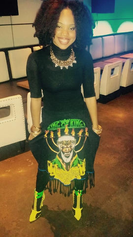 Zemira Israel with Black Christ Jesus skirt