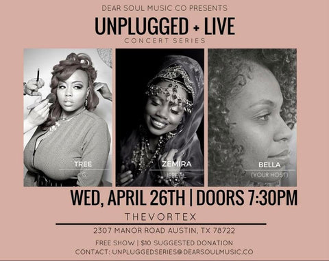 Zemira Israel show hosted by Dear Soul Music Co Live and Unplugged with artist Tree G