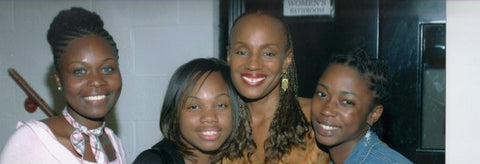 Zemira Israel with old singing trio group Bliss and President of Essence Magazine