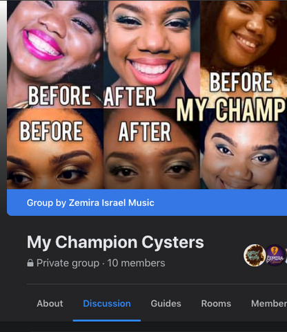 MY champion cysters facebook group