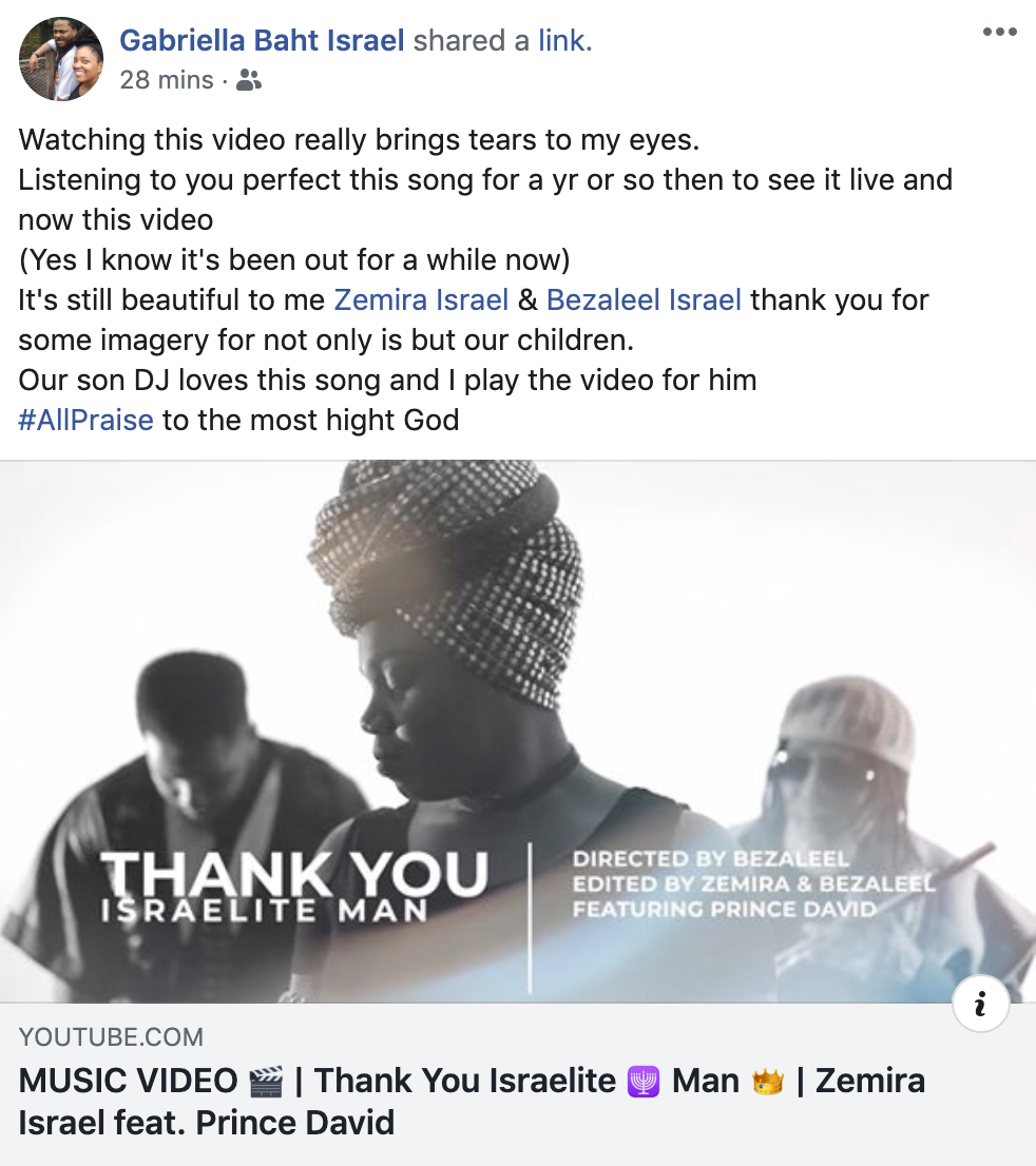 Zemira Israel Thank You Israelite Man music video review