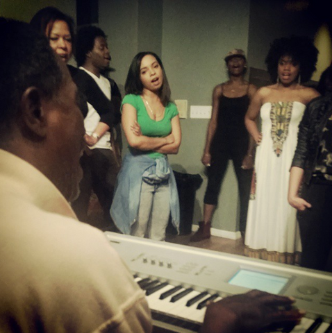 Zemira Israel in Craig Derry's Vocal Coach class in New York City 2014