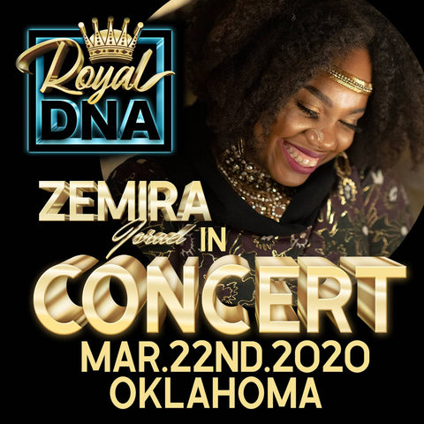 ZEMIRA ISRAEL HEADLINING AT THE ROYAL DNA CONCERT AT CASTLE ROW STUDIOS IN OKLAHOMA