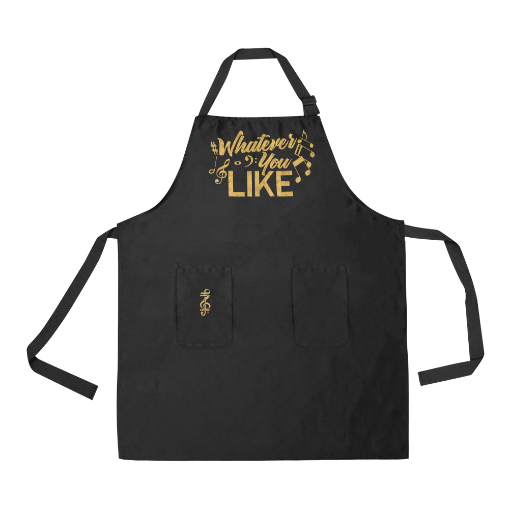 Whatever You Like Black  Apron