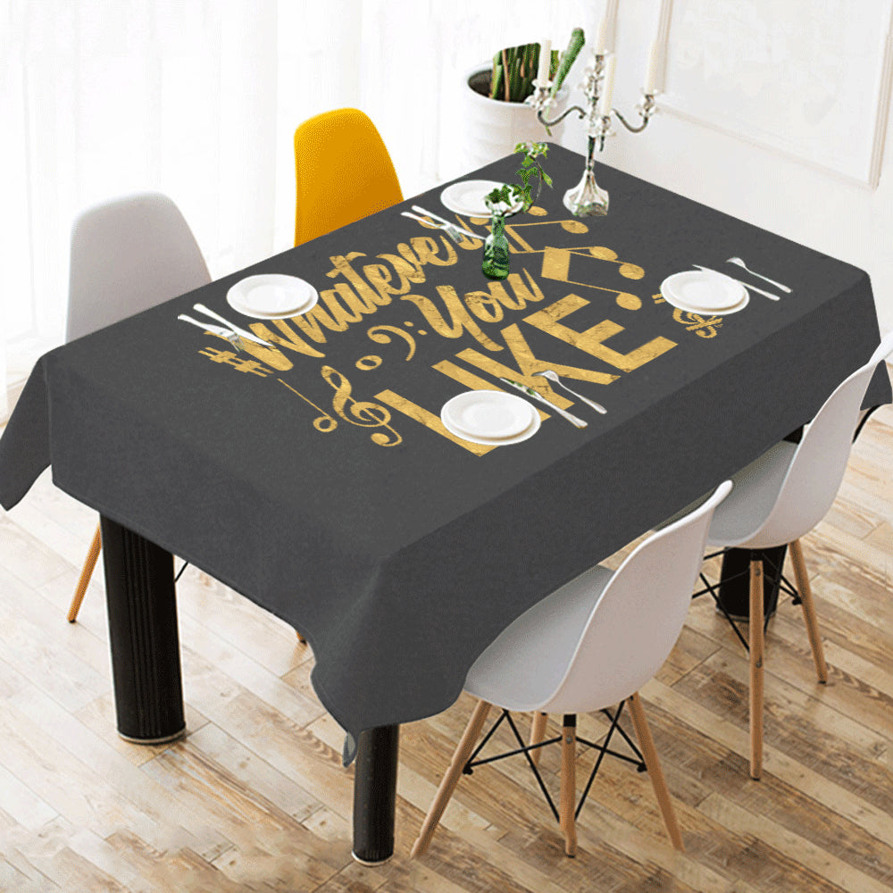 "Whatever You Like Tablecloth Cotton Linen 52""x 70"""