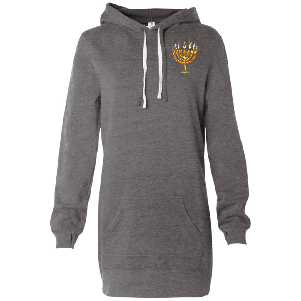 Women's Embroidered MENORAH Hooded Pullover Hoody