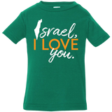 """Israel, I love you"" Infant Jersey Top"