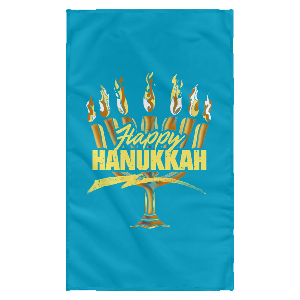 HAPPY HANUKKAH Wall Flag