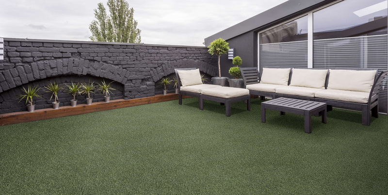 "Sport Turf Synthetic Grass Tiles 23.5"" x 23.5"" Outdoor Patio Tile Design"