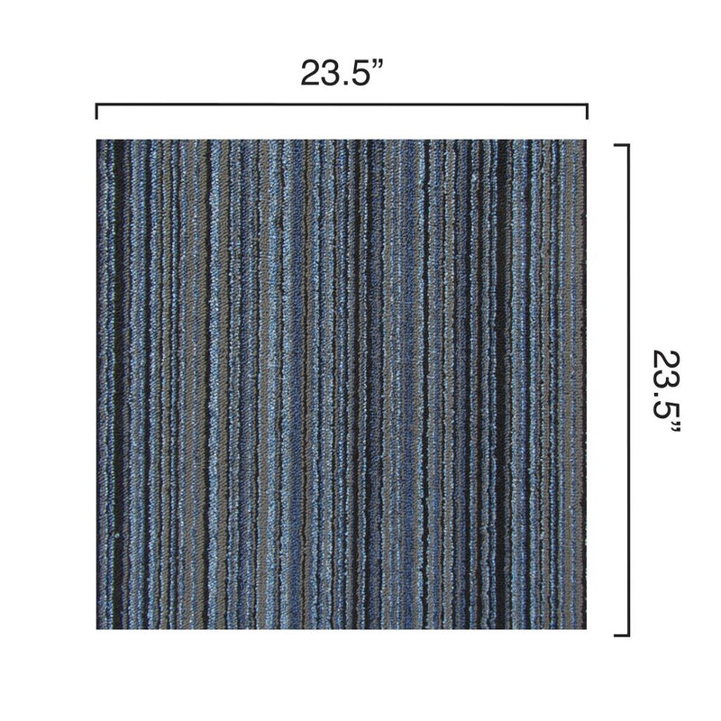 Dimensions of the loop Parallel carpet tile in High Tide