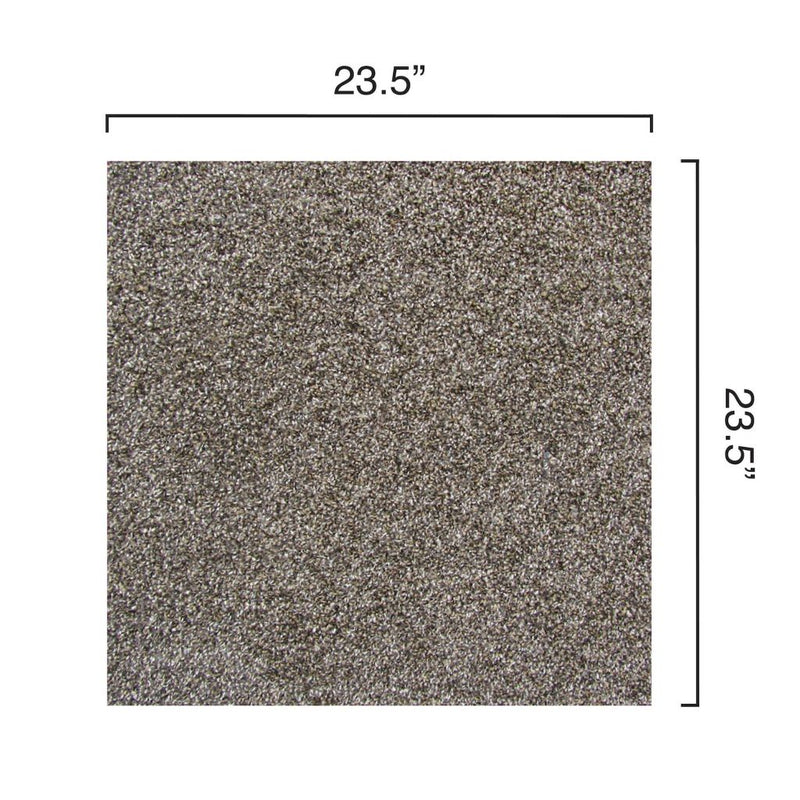 Flannel Grey Zalman plush cut carpet tile dimensions